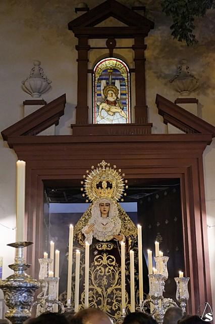 Cultos en honor a María Santísima de la Caridad en su Soledad. Hoy, Triduo y traslado al Hospital de la Caridad - Arte Sacro