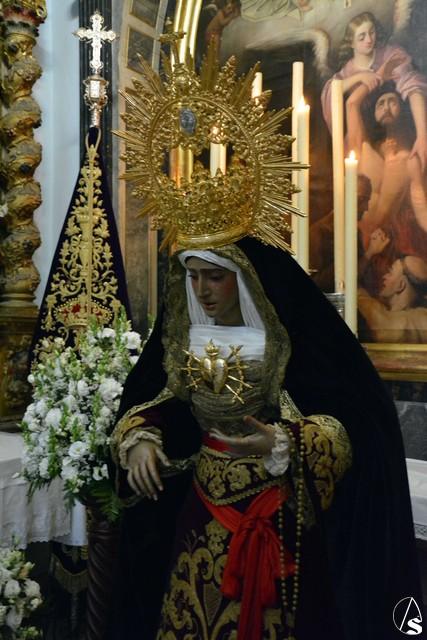 Provincia galer a besamanos de la virgen de los dolores de la hermandad de la oraci n en el - El tiempo dos hermanas sevilla ...