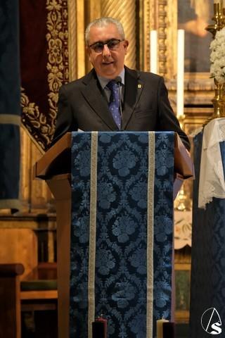 Miguel Andreu, Pregonero del Costalero 2020 en San Esteban - Arte Sacro