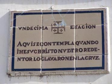 Placa de la 11ª estación