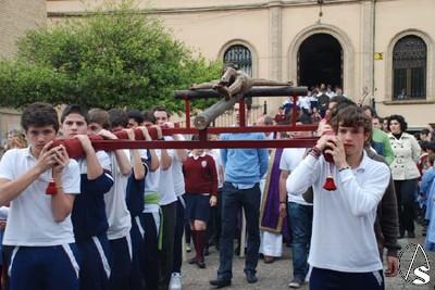Vía Crucis Y Besapies Al Cristo De La Clemencia Del Colegio San Miguel Adoratrices