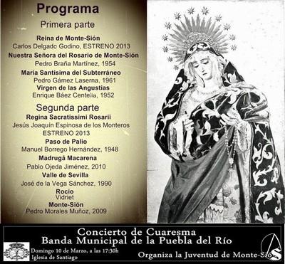 Hoy concierto de cuaresma de monte si n en la iglesia de for Concierto hoy en santiago
